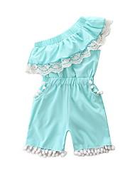 Недорогие -малыш Девочки Однотонный Без рукавов Bodysuit