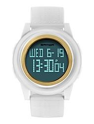Недорогие -SANDA Для пары Спортивные часы электронные часы Японский Цифровой 30 m Защита от влаги Календарь Хронометр PU Группа Цифровой Роскошь Мода Черный / Белый / Красный - / Фосфоресцирующий / Фаза луны