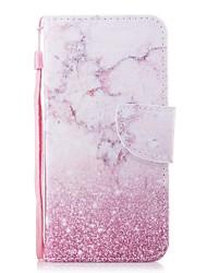 economico -Custodia Per Huawei Honor 7X A portafoglio / Porta-carte di credito / Con chiusura magnetica Integrale Effetto marmo Resistente pelle sintetica per Honor 7X