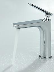 economico -Lavandino rubinetto del bagno - Separato Cromo Installazione centrale Una manopola Un foro