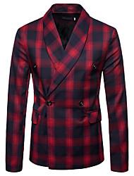 cheap -Men's Business Vintage Blazer-Plaid