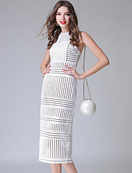 Недорогие -Жен. На выход Обтягивающие Оболочка Платье Завышенная До колена / Сексуальные платья