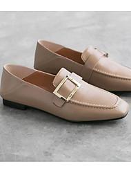 abordables -Femme Chaussures Cuir Nappa Printemps / Automne Confort Mocassins et Chaussons+D6148 Talon Plat Noir / Amande / Marron
