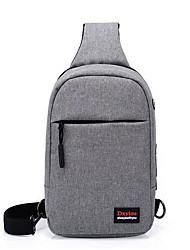 cheap -Men's Bags Polyester Sling Shoulder Bag Zipper Embroidery Dark Blue / Purple / Light Grey