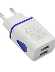 Недорогие -Портативное зарядное устройство Зарядное устройство USB Евро стандарт Несколько разъемов 2 USB порта 2.1 A 100~240 V для