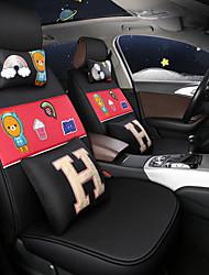 preiswerte -ODEER Autositzbezüge Sitzbezüge Schwarz / Rot Textil Normal for Universal Alle Jahre Alle Modelle