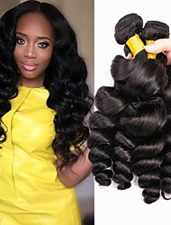 cheap -Malaysian Hair Loose Wave Gifts / Natural Color Hair Weaves / Tea Party Favors 4 Bundles 8-28 inch Human Hair Weaves Gift / Hot Sale / Thick Natural Color Human Hair Extensions Women's