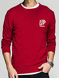 cheap -Men's Active Pullover - Solid Colored / Letter, Print