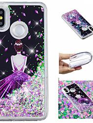 cheap -Case For Xiaomi Redmi Note 5 Pro / Mi 8 Flowing Liquid / Pattern / Glitter Shine Back Cover Sexy Lady / Glitter Shine Soft TPU for Xiaomi Redmi Note 5 Pro / Xiaomi Redmi Note 4X / Xiaomi Redmi Note 4