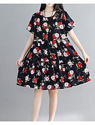 cheap -Women's Vintage / Sophisticated Swing Dress Print