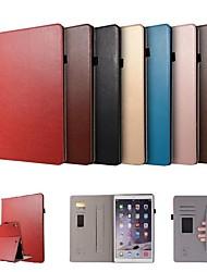Недорогие -Кейс для Назначение Apple iPad Pro 12.9'' Бумажник для карт / со стендом / Магнитный Чехол Однотонный Твердый Кожа PU