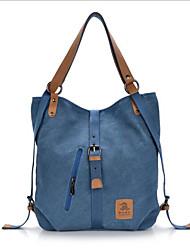 cheap -Women's Bags Canvas Tote Zipper Red / Coffee / Khaki