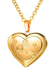 cheap -Women's Long Pendant Necklace - Locket, Heart Romantic, Fashion Gold, Silver 55 cm Necklace 1pc For Gift, Daily