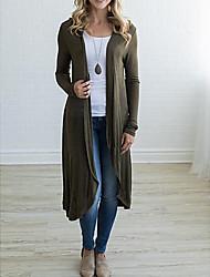 Недорогие -Жен. Пальто Однотонный, Шерсть Классический / Зима
