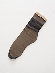 Недорогие -Жен. Носки Однотонный Формирование ног Полиэстер EU36-EU42