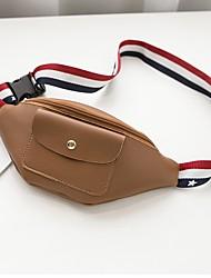 baratos -Mulheres Bolsas PU Sling sacos de ombro Ziper Rosa / Cinzento / Marron