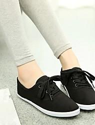 Недорогие -Жен. Полотно Лето Удобная обувь Кеды На плоской подошве Оранжевый / Серый / Светло-Зеленый