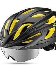 Недорогие -ROCKBROS Взрослые Мотоциклетный шлем 18 Вентиляционные клапаны прибыль на акцию, ПК Виды спорта Велосипедный спорт / Велоспорт - Темно-синий / Красный / Черный / желтый Муж. / Жен.