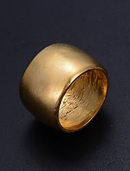 Недорогие -Муж. Жен. Скульптура Кольцо - Позолота Мода 8 Золотой Назначение Подарок Валентин