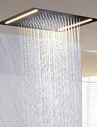 economico -Moderno Doccia a pioggia Ti-PVD caratteristica - Effetto pioggia / Nuovo design, Soffione doccia