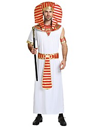 cheap -Egyptian Costume Costume Men's Halloween Carnival Masquerade Festival / Holiday Halloween Costumes Outfits White Solid Colored Striped Halloween Halloween