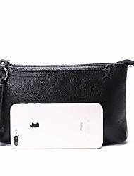 Недорогие -женская сумка наппа кожаная сумка на молнии синий / черный / коричневый