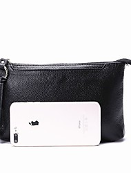 baratos -Sacos de mulheres nappa couro bolsa de ombro zipper azul / preto / marrom