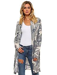 お買い得  -女性用 コート Vネック カモフラージュ