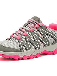 Недорогие -Жен. Обувь Сетка Лето Удобная обувь Спортивная обувь Для пешеходного туризма На плоской подошве Черный / Серый / Лиловый