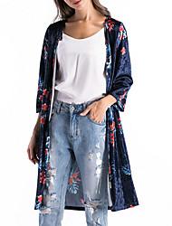 economico -Cloak / Capes Per donna Essenziale - Floreale Collage / Jacquard / Con stampe