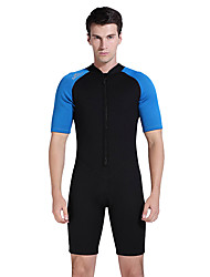 cheap -SBART Men's Rash Guard Dive Skin Suit SPF50, UV Sun Protection, Quick Dry Tactel Short Sleeve Swimwear Beach Wear Diving Suit Front Zip Diving / Breathable / Breathable