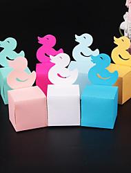Недорогие -Кубический Розовая бумага Фавор держатель с Узоры / принт Подарочные коробки - 50 шт