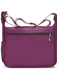 cheap -Women's Bags Nylon Shoulder Bag Zipper Navy Blue / Purple / Coffee