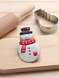 Недорогие -снеговик печенья формы из нержавеющей стали торт плесень