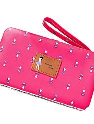 cheap -Women's Bags PU(Polyurethane) Wallet Zipper Fuchsia / Light Purple / Dark Brown
