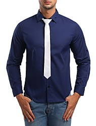 cheap -Men's Business / Exaggerated Shirt - Solid Colored Patchwork