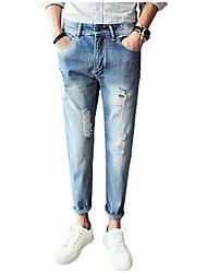 cheap -Men's Jeans Pants - Solid Colored Hole