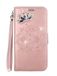 baratos -Capinha Para Huawei P smart / Enjoy 7S Porta-Cartão / Com Suporte / Flip Capa Proteção Completa Mandala Rígida PU Leather para P smart / Huawei Enjoy 7S