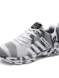 cheap -Men's Shoes Knit / Mesh Summer Comfort / Light Soles Athletic Shoes Running Shoes Gray / Army Green / Khaki