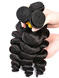 cheap -Peruvian Hair Loose Wave Natural Color Hair Weaves / Tea Party Favors / Bundle Hair 3 Bundles 8-28 inch Human Hair Weaves Soft / Hot Sale / Fashion Natural Color Human Hair Extensions Women's