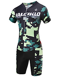 cheap -Malciklo Men's Short Sleeve Cycling Jersey with Shorts - Camouflage British / Camouflage Bike Clothing Suit, 3D Pad, Quick Dry, Breathable Coolmax®, Lycra / High Elasticity / SBS Zipper