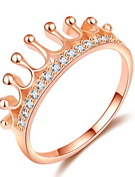 cheap -Women's Stylish Ring Knuckle Ring - Rose Gold Plated, Imitation Diamond Crown Trendy, Fashion, Elegant 5 / 6 / 7 / 8 / 9 Rose Gold For Date Going out