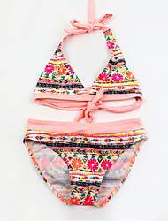 baratos -Infantil Para Meninas Floral / Estampado Roupa de Banho