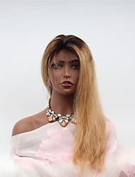 abordables -Cabello Remy Encaje Frontal Peluca Cabello Brasileño Ondulado Peluca Corte asimétrico 130% Mujer / Natural / Adorable Mujer Muy largo Pelucas de Cabello Natural