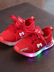 abordables -Fille Chaussures Maille / Polyuréthane Printemps été Confort Chaussures d'Athlétisme Marche LED pour Enfants Noir / Rouge / Rose