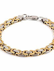 cheap -Men's Link / Chain Chain Bracelet / Link Bracelet - Titanium Steel Creative Vintage, European Bracelet Gold / Silver For Daily / Festival