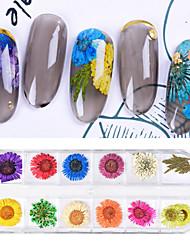 Недорогие -12 pcs Стразы для ногтей Универсальный Цветы маникюр Маникюр педикюр Повседневные Стиль / Элегантный стиль