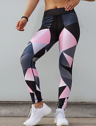 cheap -Women's Sporty Legging - Geometric Mid Waist