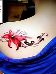 billiga -3 pcs Tatueringsklistermärken tillfälliga tatueringar Blomserier / Romantisk serie Lena klistermärken / Säkerhet Body art Kropp / arm / skuldra / Tattoo Sticker