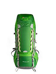 baratos -60 L Mochila para Excursão - Respirabilidade Ao ar livre Equitação Malha de Poliéster Extensível 75g / m2 Vermelho, Verde, Azul